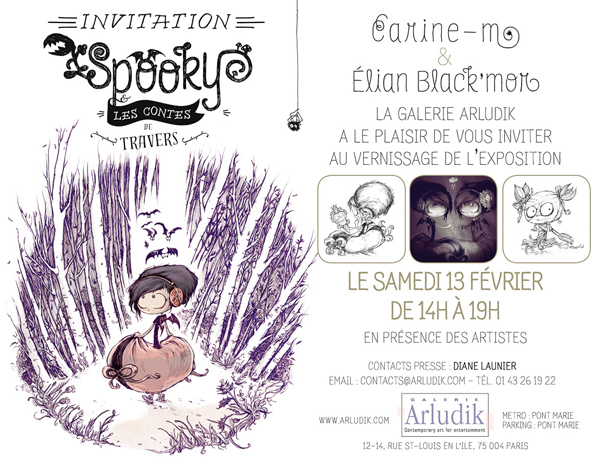 Carton d'invitation Spooky Vernissage